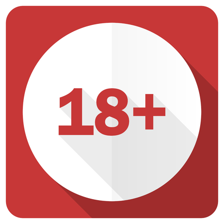 adults: adults red flat icon