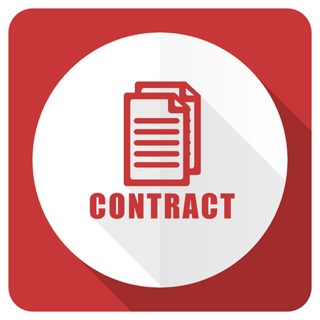 icom: contract red flat icon