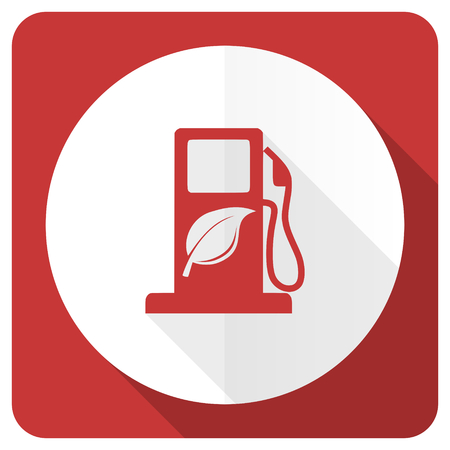 biofuel: biofuel red flat icon bio fuel sign Stock Photo