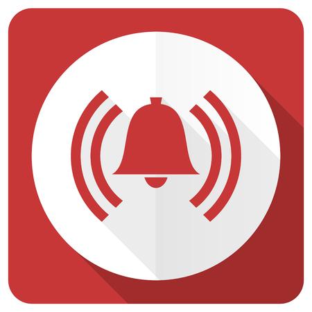 alarm red flat icon alert sign bell symbol Stockfoto