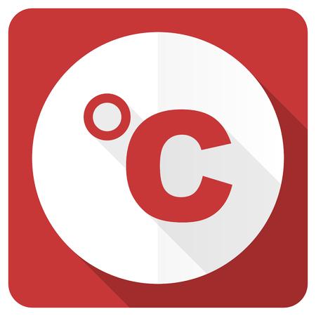 celcius: celsius red flat icon temperature unit sign