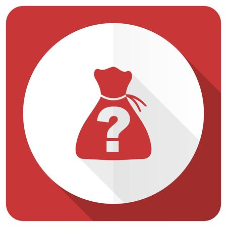 riddle: riddle red flat icon