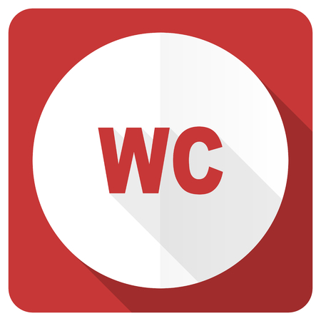 toilet red flat icon wc sign photo