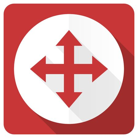sterring: arrow red flat icon Stock Photo