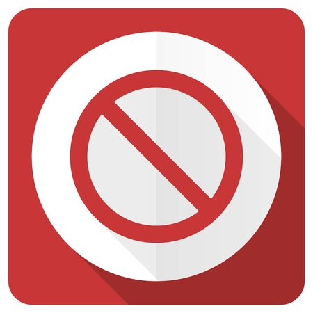 access denied: access denied red flat icon