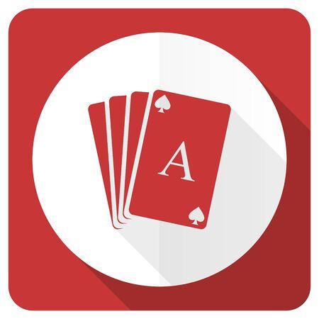 picto: casino red flat icon hazard sign