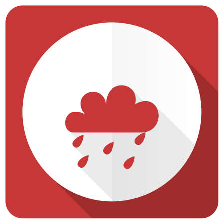 rain red flat icon waether forecast sign Stock Photo