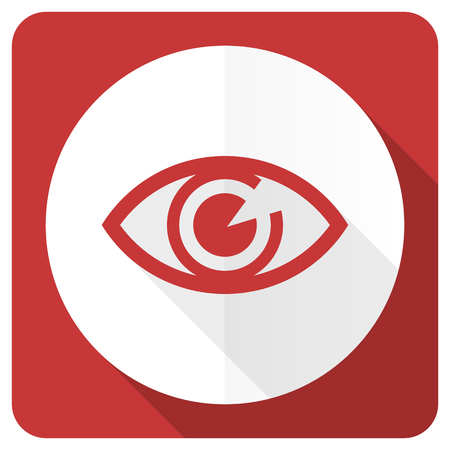 eye red: eye red flat icon view sign Stock Photo