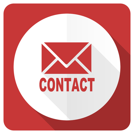 email contact: email red flat icon contact sign