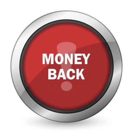money back: money back red icon Stock Photo