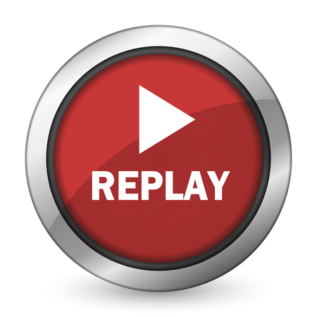 replay red icon photo