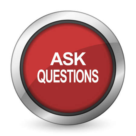 questions: ask questions red icon