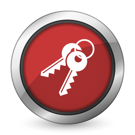 keys red icon photo