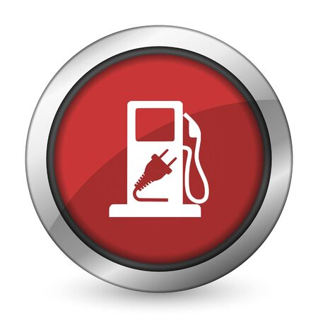 fuel red icon hybrid fuel sign photo