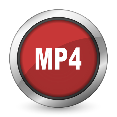 mp4: mp4 red icon