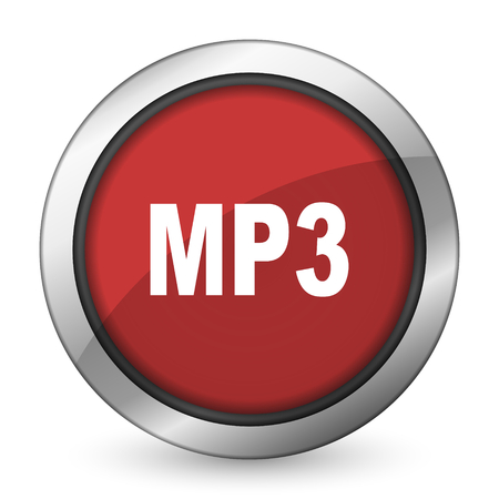 mp3: mp3 red icon