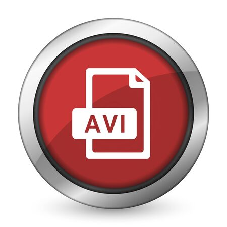 avi: avi file red icon