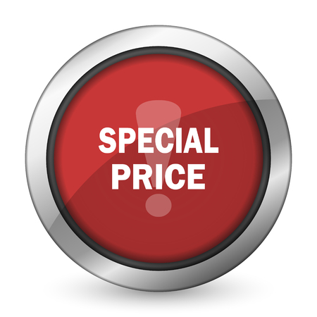 special price: special price red icon Stock Photo