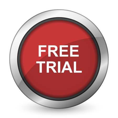 free trial red icon photo