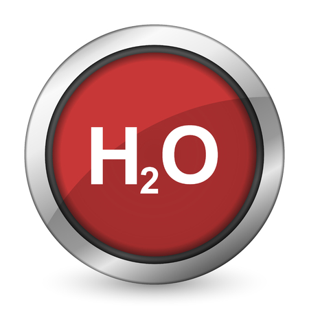 h2o: water red icon h2o sign Stock Photo