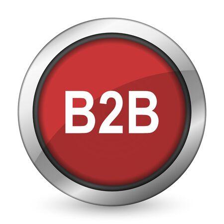 b2b: b2b icono rojo