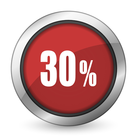 30: 30 percent red icon sale sign
