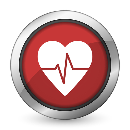 pulse red icon heart rate sign photo