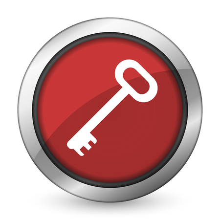 secure: key red icon secure symbol