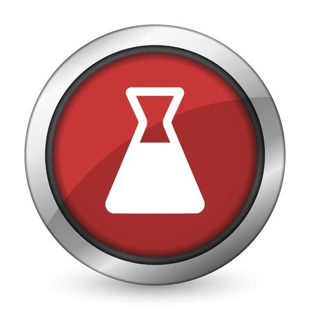 laboratory red icon photo