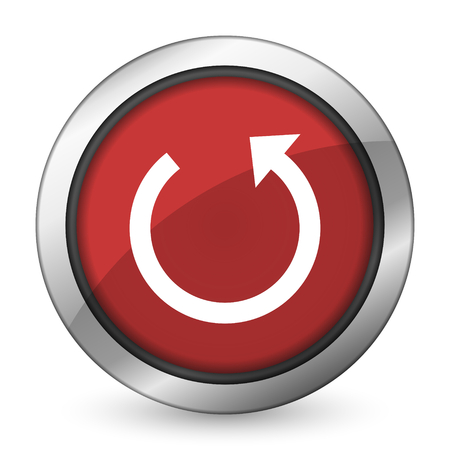 rotate: rotate red icon reload sign