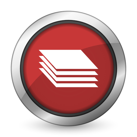 layers: layers red icon gages sign