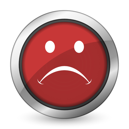 negate: cry red icon Stock Photo
