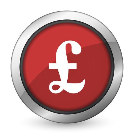 pound: pound red icon