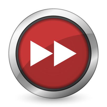 rewind: rewind red icon