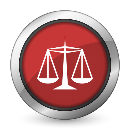 data protection act: justice red icon law sign