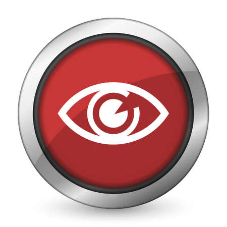 eye red: eye red icon view sign