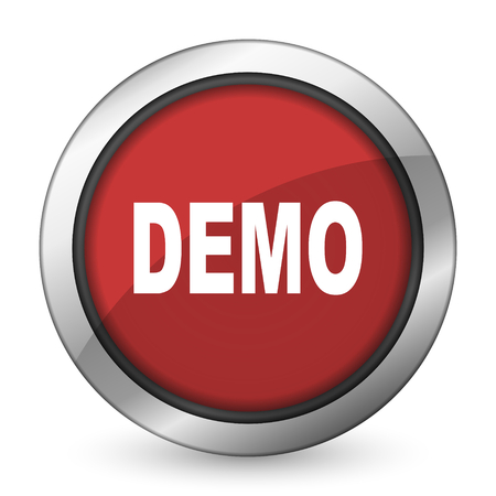 demo red icon photo