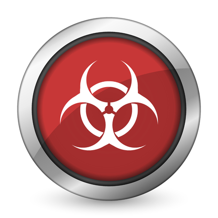 biohazard red icon virus sign photo