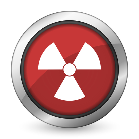 radiation red icon atom sign photo