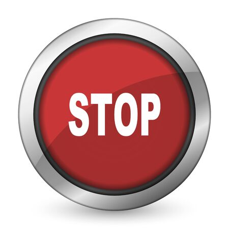 proscribed: stop red icon Stock Photo