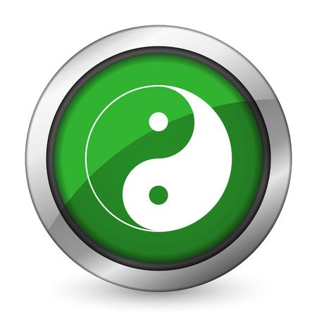 yang: ying yang green icon