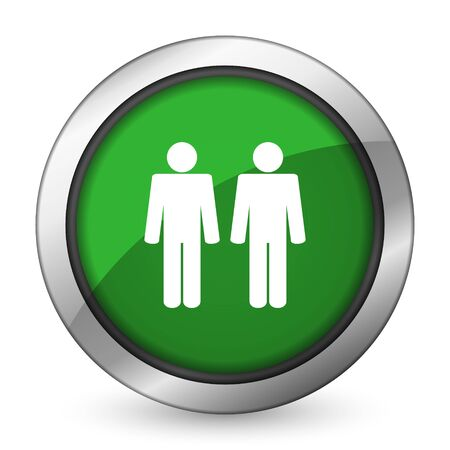 couple green icon people sign team symbol photo