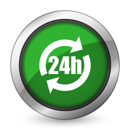 24h green icon photo