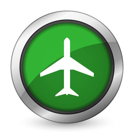 airport sign: plane green icon airport sign