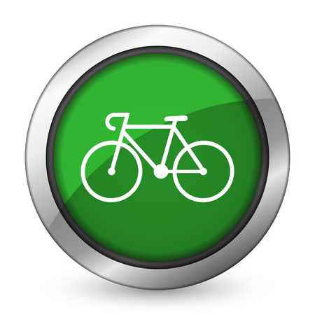 bicycle green icon bike sign photo