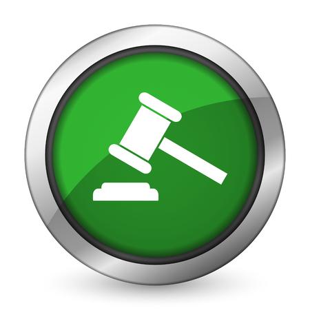 auction green icon court sign verdict symbol photo