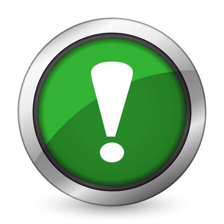 exclamation sign: exclamation sign green icon warning sign