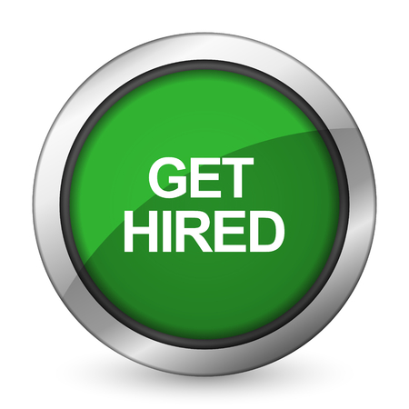 hired: get hired green icon