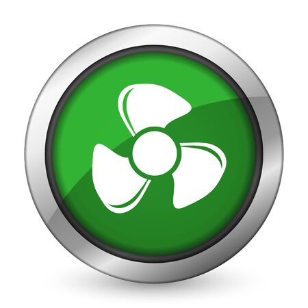airflow: fan green icon
