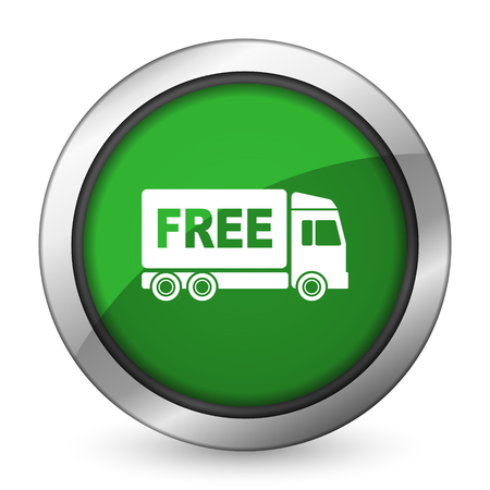 free delivery green icon transport sign photo